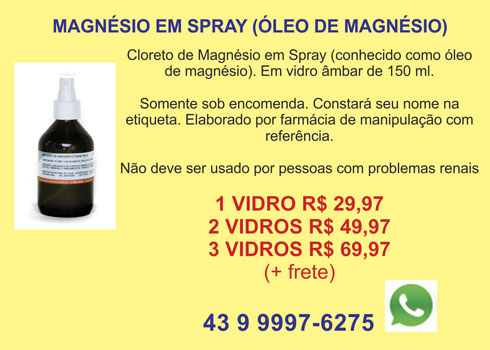 oleo de magnesio spray cloreto
